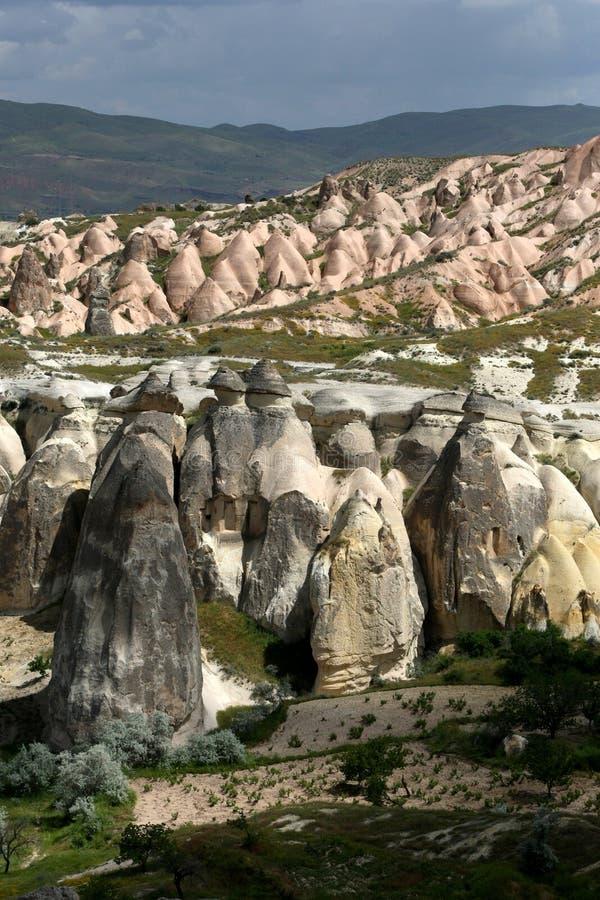 Pasabagi nella regione della Cappadocia in Turchia immagini stock libere da diritti