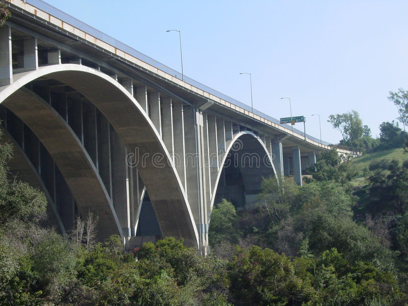 Pasadena-Brücke lizenzfreies stockbild