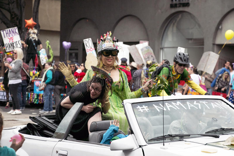 Pasadena, Califórnia - 20 de novembro de 2016: Doo Dah Parade fotografia de stock