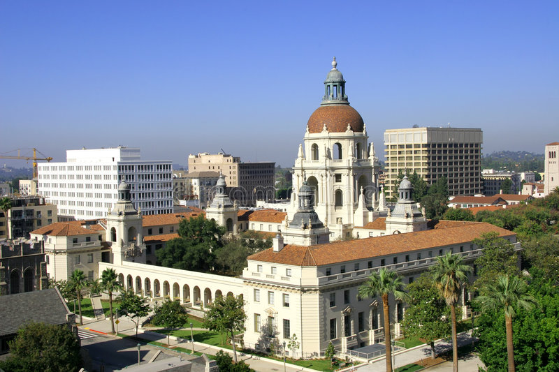 Pasadena City Hall. Listed on the National Register of Historic Places royalty free stock images
