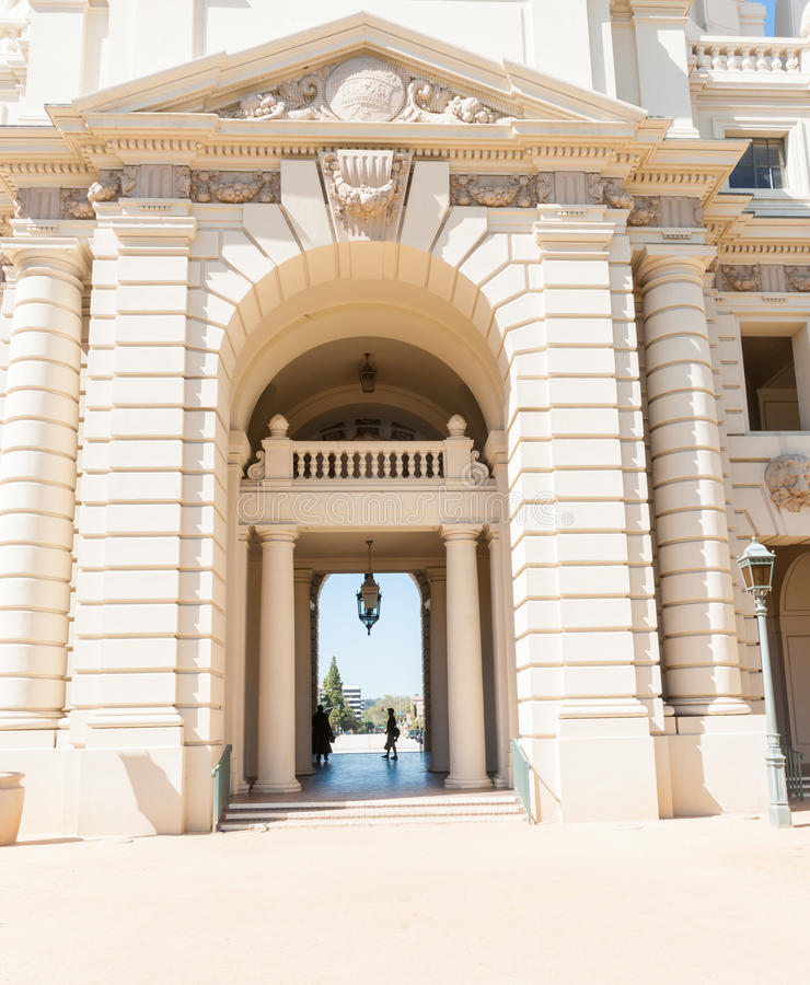 Pasadena City Hall in Mediterranean Revival and Spanish Colonial. Architectural features of Pasadena City Hall in Mediterranean Revival and Spanish Colonial royalty free stock images