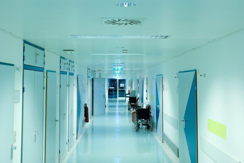 Pasadizo de hospital vacío Concepto de atención médica Cierre fotografía de archivo