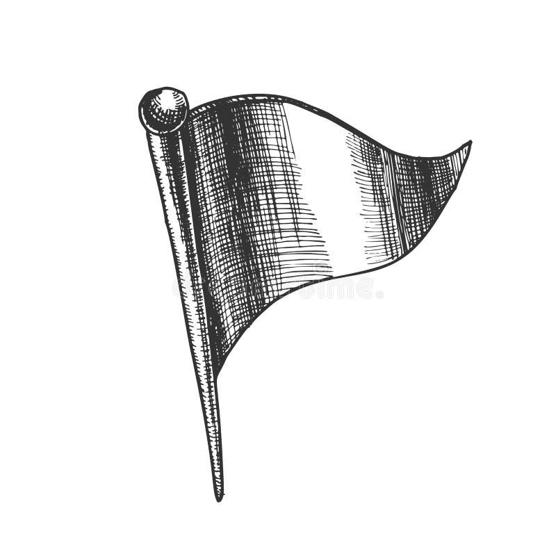 Pasador de los efectos de escritorio en vector de la forma de la bandera del triángulo ilustración del vector