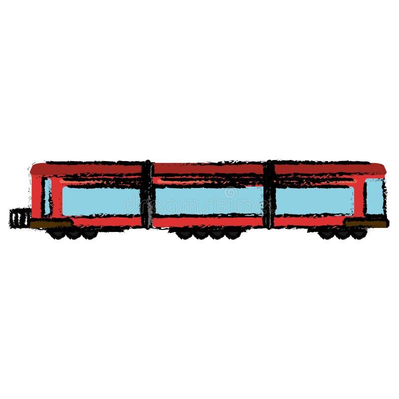 pasajero locomotor del transporte del tren stock de ilustración