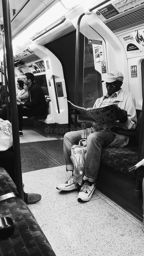 Pasajero subterráneo de Londres fotografía de archivo libre de regalías