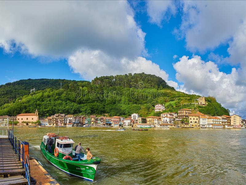 Pasajes de San Juan Pasai Donibane. Guipuzcoa, Basque country, Spain. Pasajes de San Juan Pasai Donibane, Spain - June 5, 2019. Fishing village of Pasajes de San stock image