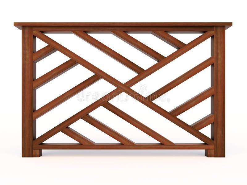 Pasamano de madera del diseño con balaustres de madera ilustración del vector
