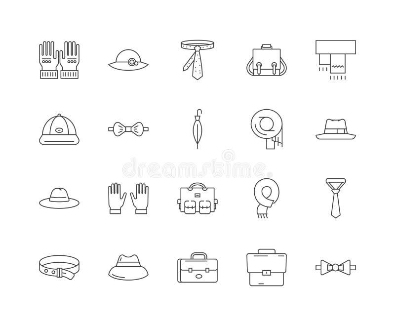 Pasamonictwo kreskowe ikony, znaki, wektoru set, kontur ilustracji pojęcie ilustracja wektor