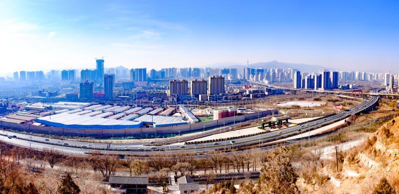 Pasando por alto la perla de la meseta - Qinghai, Xining fotos de archivo libres de regalías