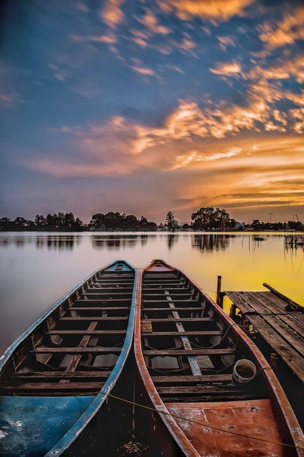 Pasangan Perahu stock foto