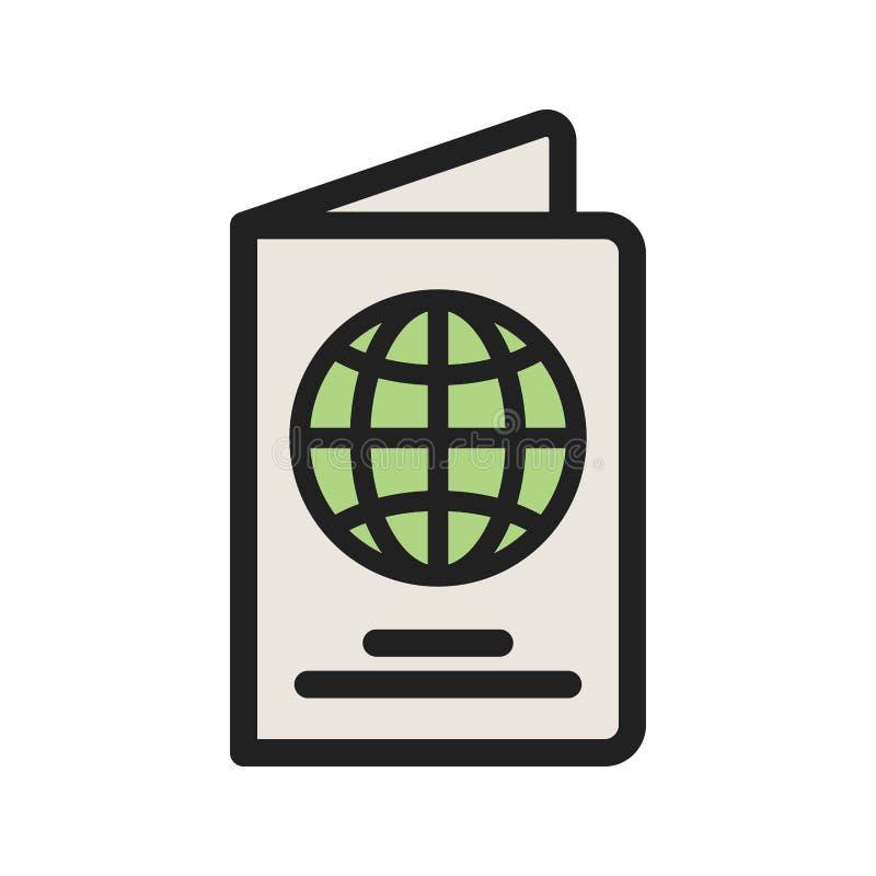 pasaporte ilustración del vector