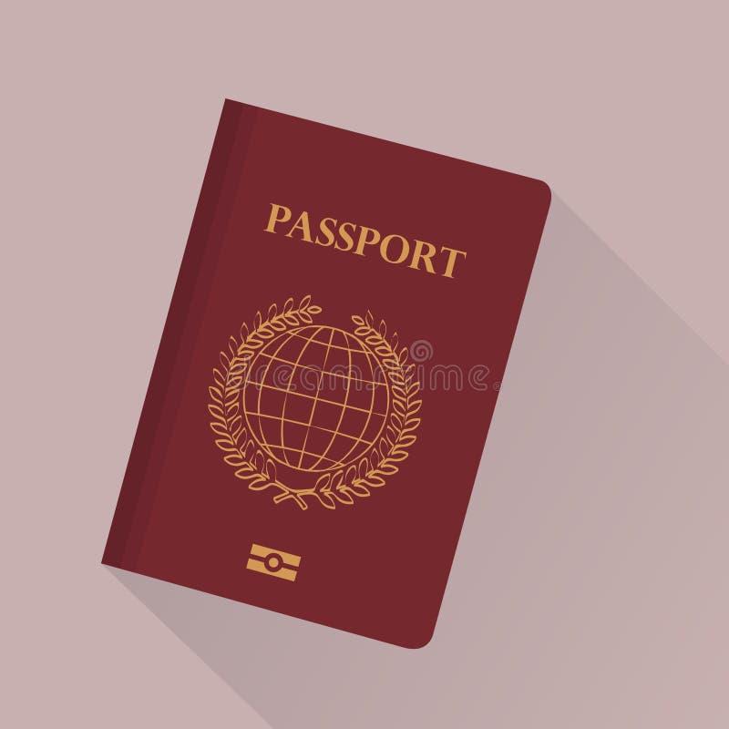 pasaporte stock de ilustración