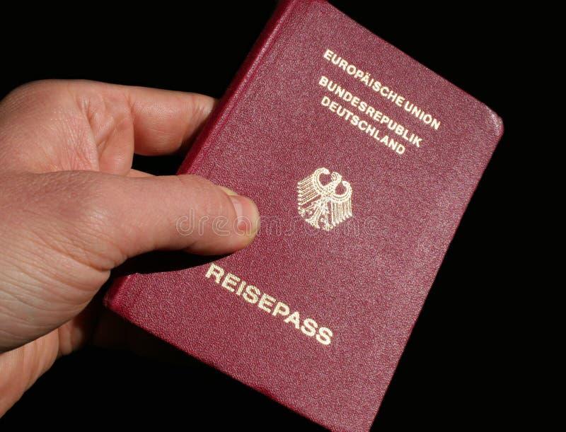 Pasaporte alemán imagenes de archivo