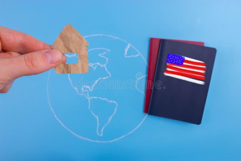 pasaporte americano del ciudadano ilustración del vector