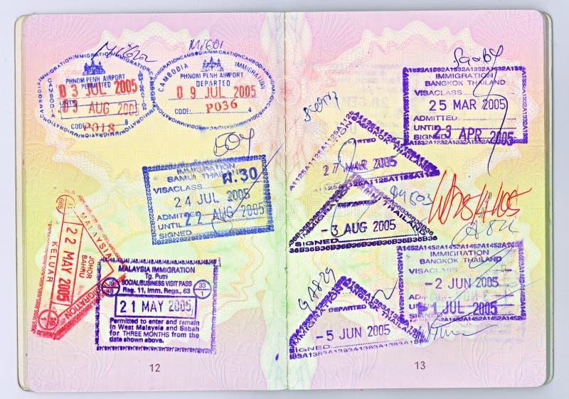 Pasaporte a Asia fotos de archivo