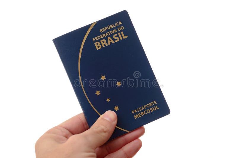Pasaporte brasileño para el viaje en el extranjero imagen de archivo libre de regalías