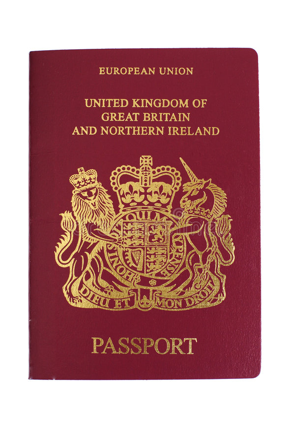 Pasaporte británico imagen de archivo