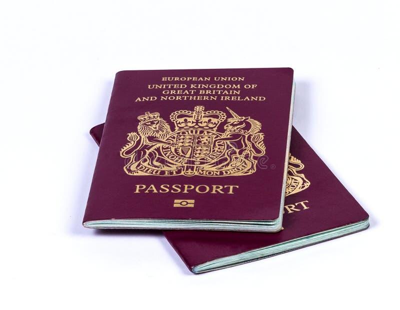Pasaporte BRITÁNICO foto de archivo libre de regalías