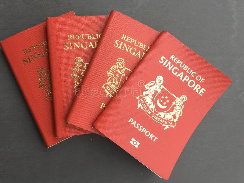 Pasaporte de Singapur fotos de archivo