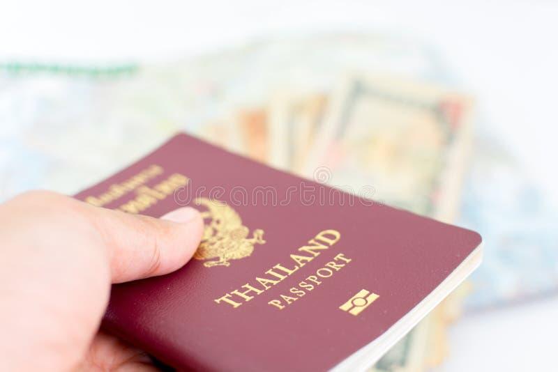 Pasaporte de Tailandia para el turismo fotos de archivo