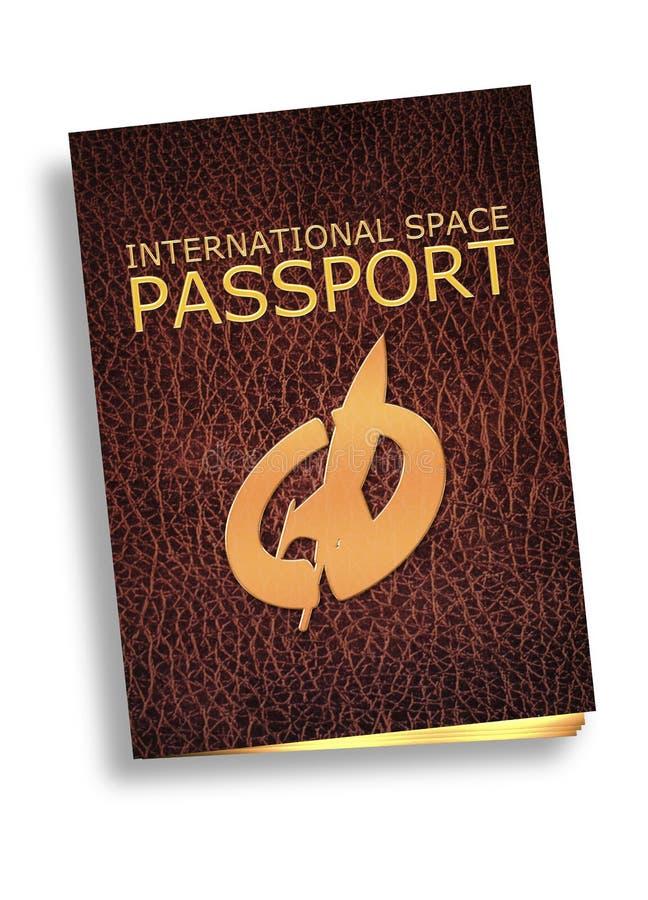 Pasaporte del turismo del espacio stock de ilustración