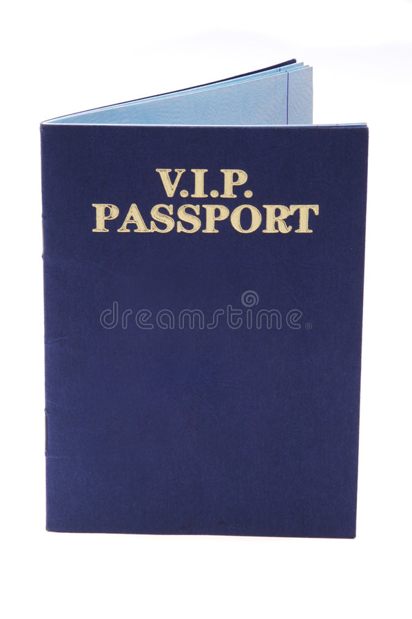 Pasaporte del VIP fotos de archivo