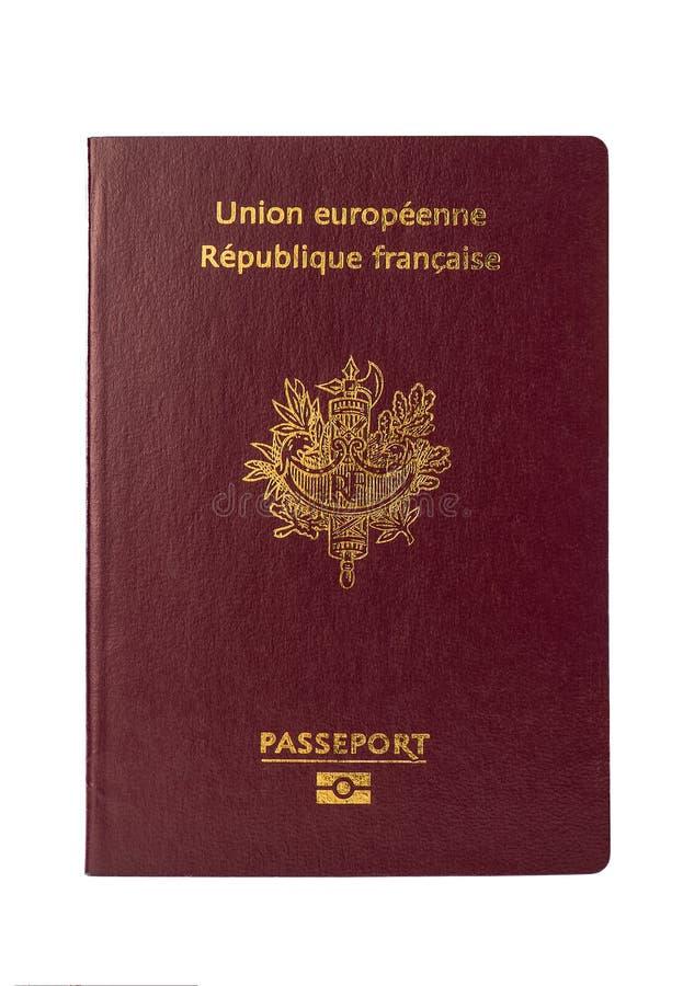 Pasaporte francés en un fondo blanco fotografía de archivo libre de regalías