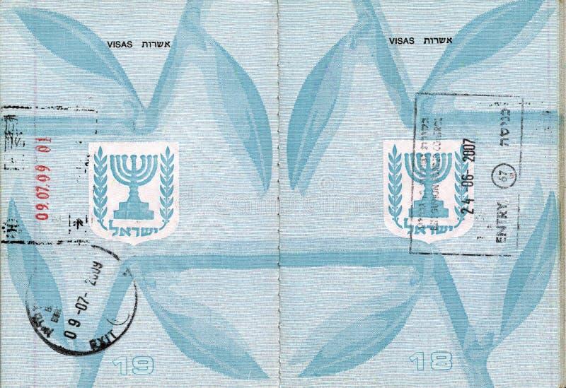 Pasaporte israelí sellado imagenes de archivo