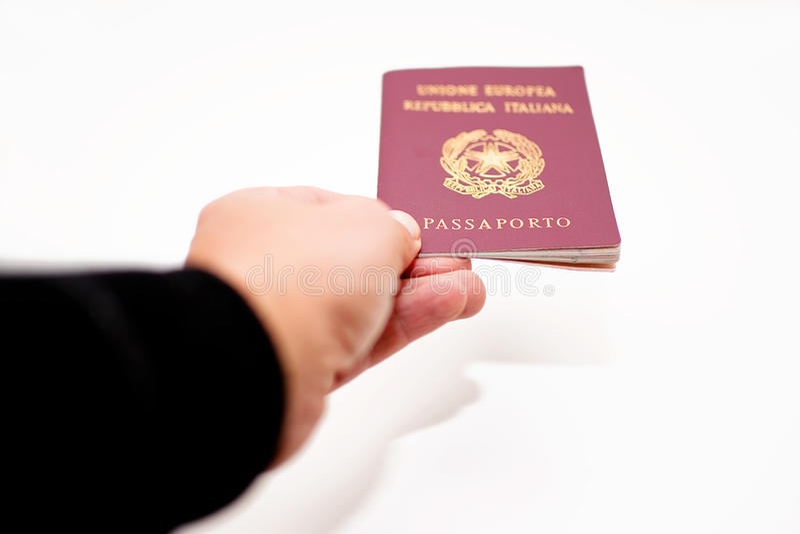 Pasaporte italiano fotos de archivo