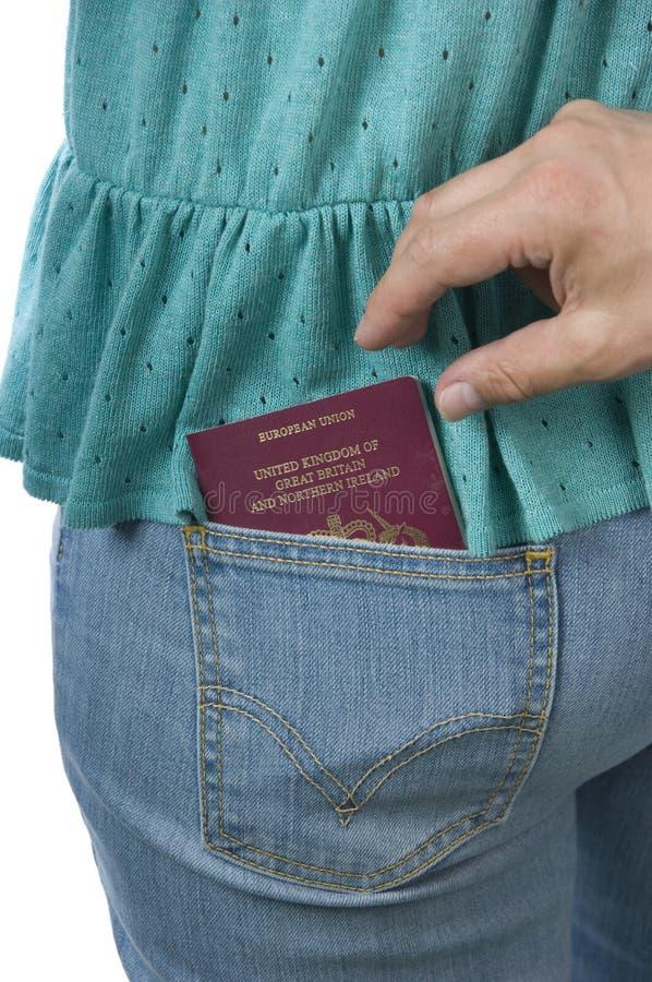 Pasaporte que es robado imagen de archivo libre de regalías