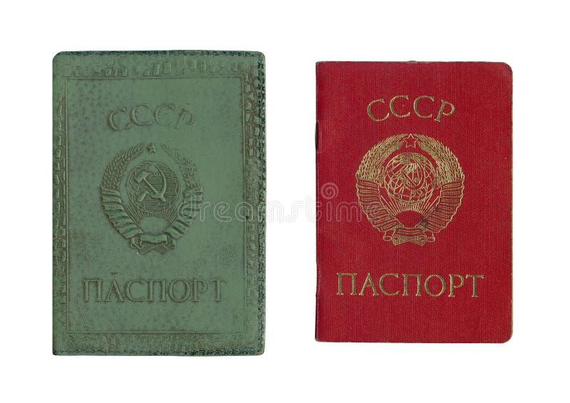 Pasaporte soviético viejo imagen de archivo