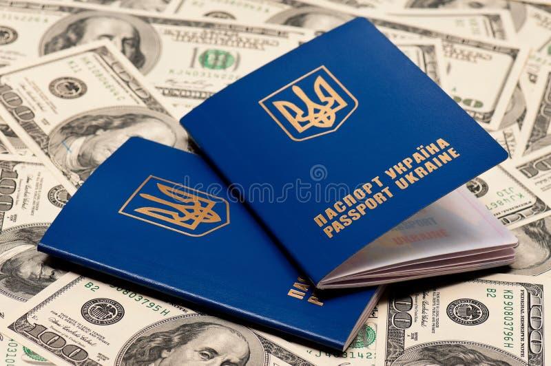 Pasaporte Ucrania fotografía de archivo libre de regalías