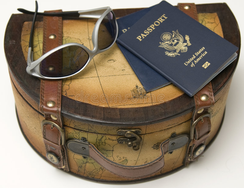 Pasaporte a viajar foto de archivo