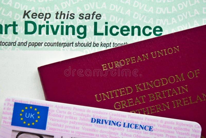 Pasaporte y licencia fotos de archivo
