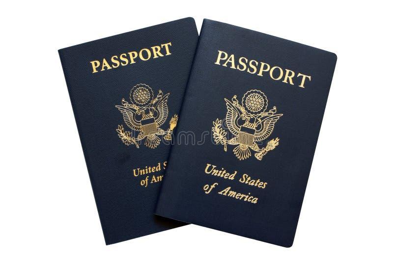 Pasaportes americanos fotografía de archivo libre de regalías
