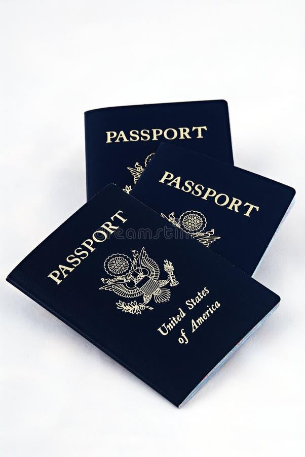 Pasaportes americanos fotos de archivo libres de regalías