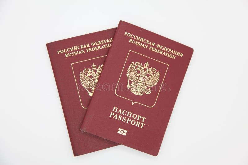 Pasaportes extranjeros de Rusia fotos de archivo