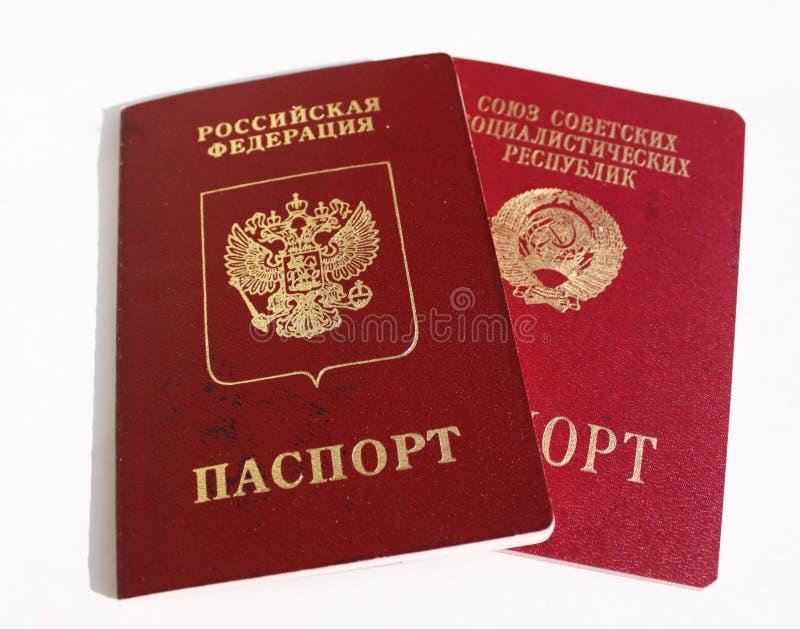 Pasaportes extranjeros de Rusia y de la URSS imagenes de archivo