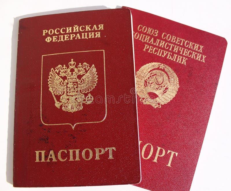 Pasaportes extranjeros de Rusia y de la URSS imagen de archivo