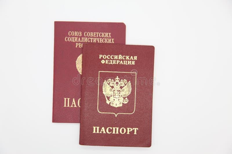 Pasaportes extranjeros de Rusia y de la URSS imágenes de archivo libres de regalías