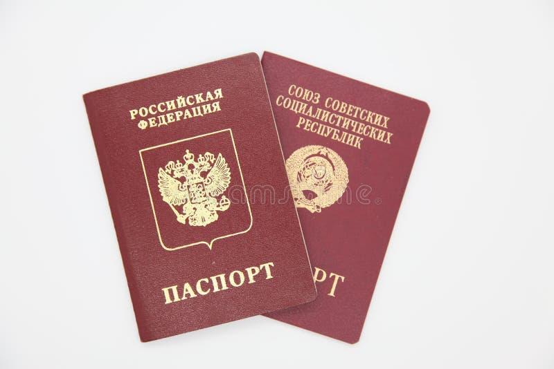 Pasaportes extranjeros de Rusia y de la URSS fotos de archivo libres de regalías