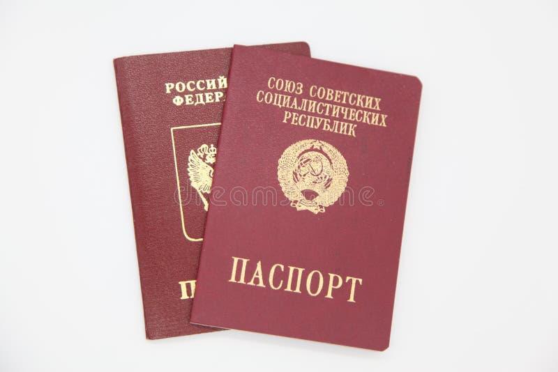 Pasaportes extranjeros de Rusia y de la URSS fotos de archivo