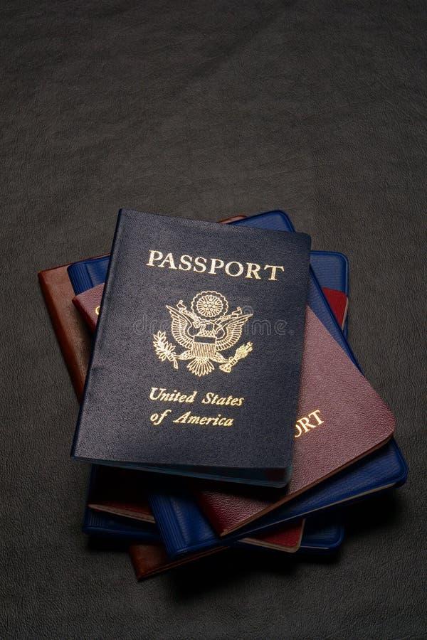 Pasaportes internacionales fotografía de archivo