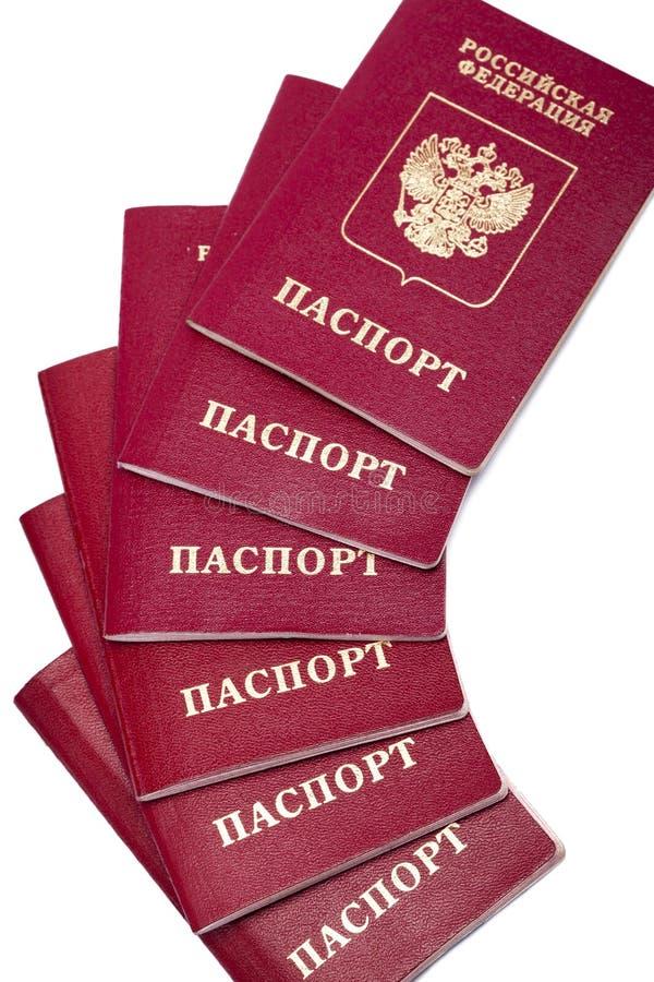 Pasaportes internacionales de Rusia fotografía de archivo libre de regalías
