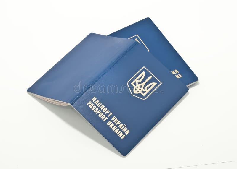 Pasaportes internacionales de Ucrania fotografía de archivo