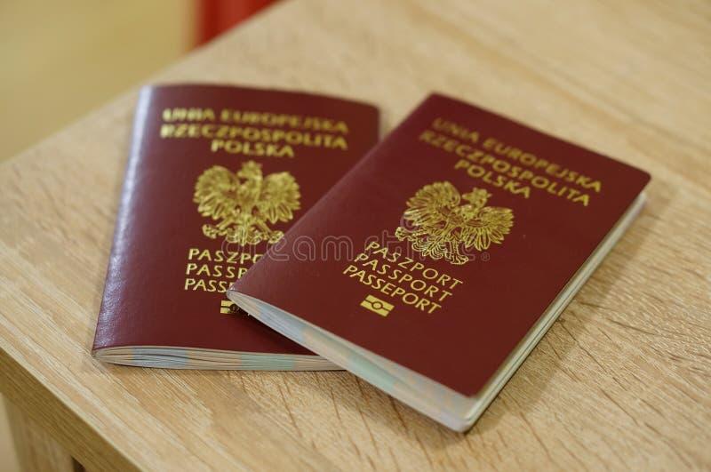 Pasaportes polacos fotografía de archivo