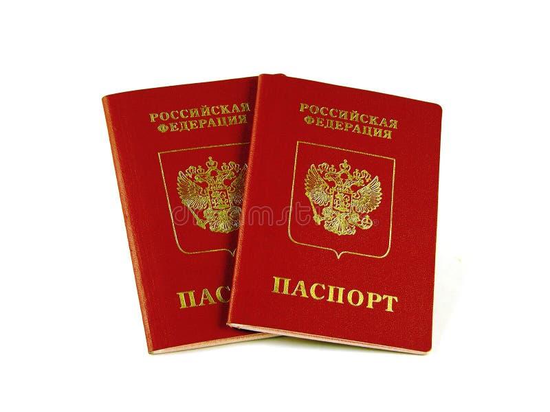 Pasaportes rusos no nativos fotos de archivo
