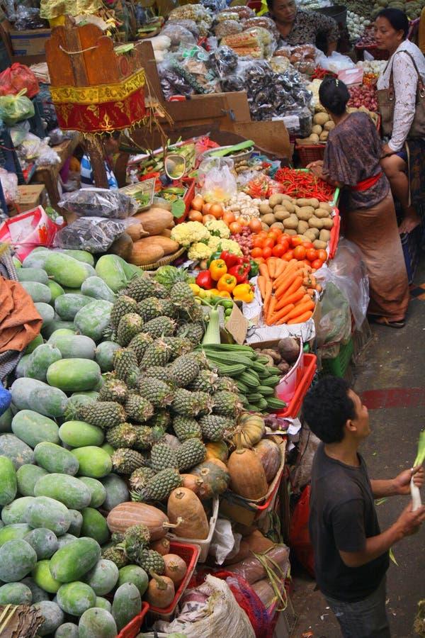 Pasar Badung dans Bali Indonésie images libres de droits