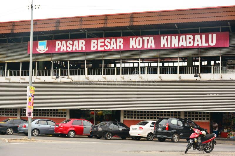 Pasar Besar Kota Kinabalu Facade in Maleisië stock foto