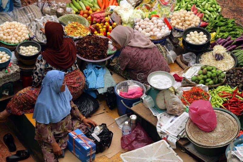 Pasar Siti Khadijah, Kelantan, Malezja (Kota Bharu Środkowy rynek) obrazy royalty free